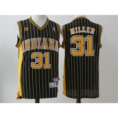 Indiana Pacers #31 Reggie Miller White Throwback Stitched NBA Jersey