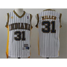 Indiana Pacers #31 Reggie Miller Navy Blue Throwback Stitched NBA Jersey