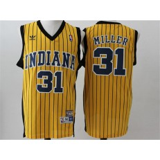 Indiana Pacers #31 Reggie Miller Blue and Yellow Stitched NBA Jersey