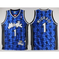 Orlando Magic #1 Tracy Mcgrady Blue Star Limited Edition Stitched NBA Jersey