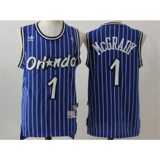 Orlando Magic #1 Tracy Mcgrady Blue Throwback Stitched NBA Jersey