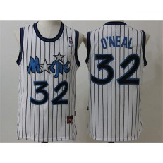 Orlando Magic #32 Shaquille O'Neal White Throwback Stitched NBA Jersey