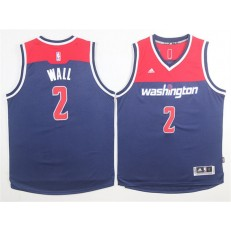 Washington Wizards #2 John Wall Navy Blue Alternate Stitched NBA Jersey