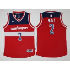 Washington Wizards #2 John Wall New Red Road Stitched NBA Jersey