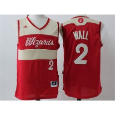 Washington Wizards #2 John Wall Red Christmas Edition Stitched NBA Jersey