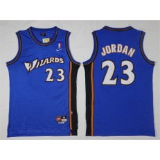 Washington Wizards #23 Michael Jordan Blue Stitched NBA Jersey