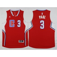 Los Angeles Clippers #3 Chris Paul Red 2015 Stitched NBA Jersey