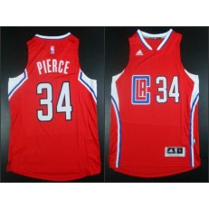 Los Angeles Clippers #34 Paul Pierce Red 2015 Stitched NBA Jersey