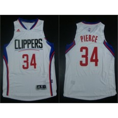 Los Angeles Clippers #34 Paul Pierce White 2015 Stitched NBA Jersey