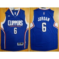Los Angeles Clippers #6 DeAndre Jordan Blue 2015 Stitched NBA Jersey