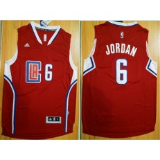 Los Angeles Clippers #6 DeAndre Jordan Red 2015 Stitched NBA Jersey