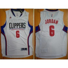 Los Angeles Clippers #6 DeAndre Jordan White 2015 Stitched NBA Jersey