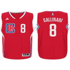 Los Angeles Clippers #8 Danilo Gallinari Red 2015 Stitched NBA Jersey