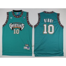 Memphis Grizzlies #10 Mike Bibby Green Stitched NBA Jersey