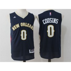 New Orleans Pelicans #0 DeMarcus Cousins Navy Blue Stitched NBA Jersey
