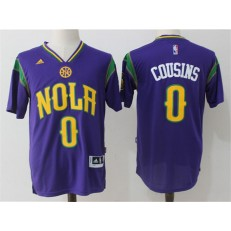 New Orleans Pelicans #0 DeMarcus Cousins Purple Pride Stitched NBA Jersey