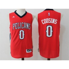 New Orleans Pelicans #0 DeMarcus Cousins Red Stitched NBA Jersey