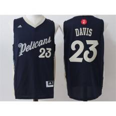 New Orleans Pelicans #23 Anthony Davis Navy Blue Christmas Edition Stitched NBA Jersey