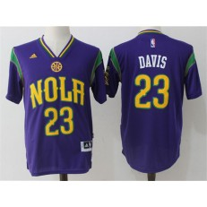 New Orleans Pelicans #23 Anthony Davis Purple Pride Stitched NBA Jersey