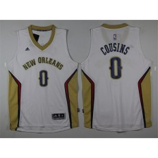 Revolution 30 New Orleans Pelicans #0 DeMarcus Cousins White Stitched NBA Jersey