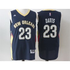 Revolution 30 New Orleans Pelicans #23 Anthony Davis Navy Blue Stitched NBA Jerseys