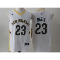 Revolution 30 New Orleans Pelicans #23 Anthony Davis White Stitched NBA Jerseys