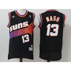 Phoenix Suns #13 Steve Nash Black Throwback Stitched NBA Jersey