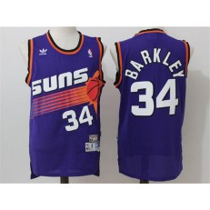 Phoenix Suns #34 Charles Barkley Purple Throwback Stitched NBA Jersey