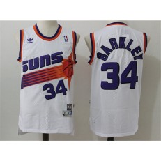 Phoenix Suns #34 Charles Barkley White Throwback Stitched NBA Jersey