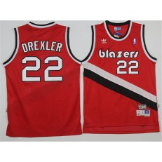 Portland Trail Blazers #22 Clyde Drexler Red Soul Swingman Throwback Stitched NBA Jersey