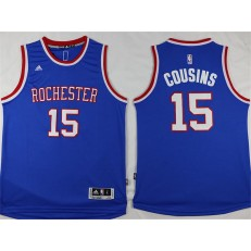 Sacramento Kings #15 DeMarcus Cousins Light Blue Stitched NBA Jersey