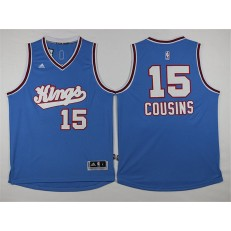 Sacramento Kings #15 DeMarcus Cousins New Light Blue Stitched NBA Jersey