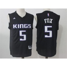 Sacramento Kings #5 De'Aaron Fox Black Stitched NBA Jersey