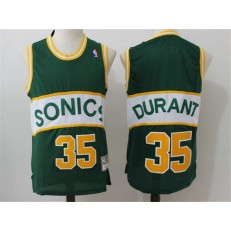 Seattle Supersonics #35 Kevin Durant Green Throwback Stitched NBA Jersey