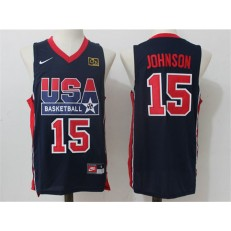 Nike Team USA 15 Magic Johnson Dark Blue 2012 USA Basketball Retro Stitched NBA Jersey