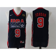 Nike Team USA 9 Michael Jordan Dark Blue 2012 USA Basketball Retro Stitched NBA Jersey