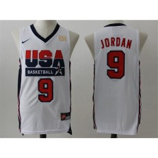 Nike Team USA 9 Michael Jordan White 2012 USA Basketball Retro Stitched NBA Jersey
