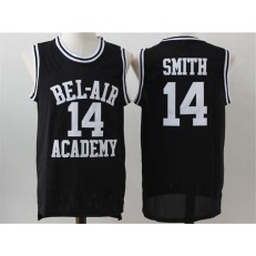 Movie Bel Air Academy #14 Smith Black Stitched Basketball Jersey