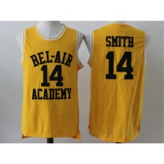 Movie Bel Air Academy #14 Smith Gold Stitched Basketball Jersey