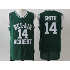 Movie Bel Air Academy #14 Smith Green Stitched Basketball Jersey