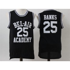 Movie Bel Air Academy #25 Banks Black Stitched Basketball Jersey