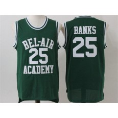 Movie Bel Air Academy #25 Banks Green Stitched Basketball Jersey