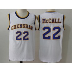 Movie Crenshaw #22 McCall White Stitched Basketball Jersey