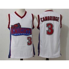 Movie Like Mike Los Angeles Knights #3 Calvin Cambridge White Stitched Basketball Jersey
