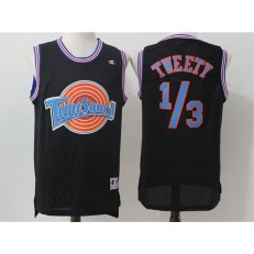 Movie Space Jam Tune Squad #1/3 Tweety Black Stitched Basketball Jersey