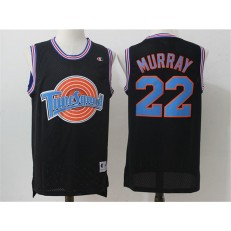 Movie Space Jam Tune Squad #22 Bill Murray Black Stitched Basketball Jersey