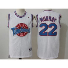 Movie Space Jam Tune Squad #22 Bill Murray White Stitched Basketball Jersey