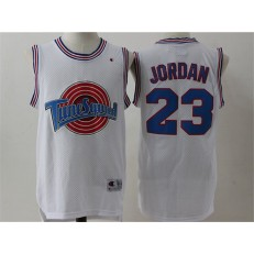 Movie Space Jam Tune Squad #23 Michael Jordan White Stitched Basketball Jersey