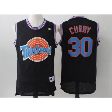Movie Space Jam Tune Squad #30 Stephen Curry Black Stitched Basketball Jersey
