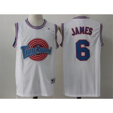 Movie Space Jam Tune Squad #6 James White Stitched Basketball Jersey